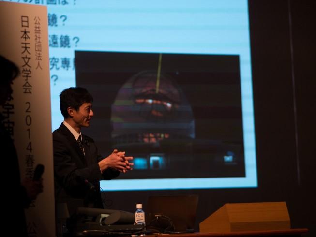 TMT推進室の青木がこれから期待される天文学と望遠鏡の歴史、そしてTMTについて講演しました。
